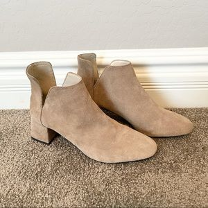 Zara Cutout Suede Ankle Boots